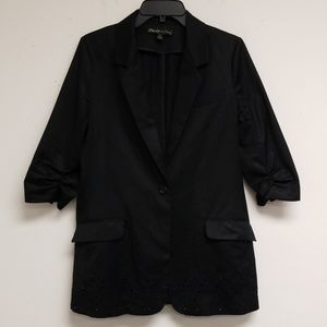 Elizabeth And James Black Wool Button Blazer 8
